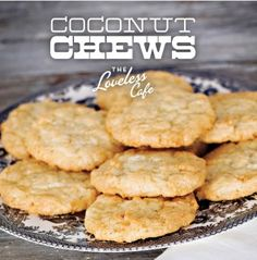 Coconut Chews | Loveless Cafe - Nashville, TN | When Paula Deen visited the restaurant, she was absolutely clear about her yen for coconut. These rich, buttery cookies loaded with coconut were her hands-down favorites. She even packed up a few strays that were left on the plate and took them with her.