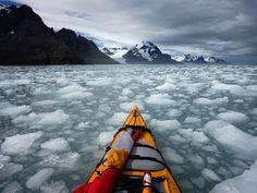 South Georgia Sea Kayak - photo by cjports South Georgia Island, Great Photos, Kayaking, Mount Everest, Sea Kayak, Coast, Mountains, World, Challenges
