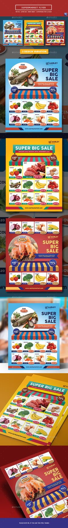 Supermarket / Product Promotion Flyer by arifpoernomo This Supermarket / Product Promotion Flyer, can be used for promote your product, Supermarket, Organic Market, Black Friday sale p