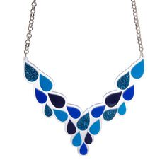 Our statement Raindrops Necklace consists of two layers of hand assembled, laser cut acrylic pieces. Laser Cut Acrylic, Rain Drops, Laser Cutting, Jewelry Accessories, Chokers, Jewelry Making, Bling, Pendants, Jewels