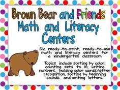 Brown Bear Centers for Kindergarten :) $