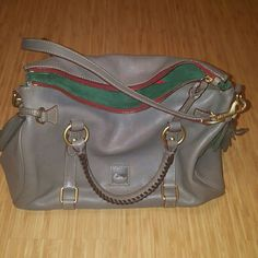 Dooney & Bourke Florentine Medium Satchel Used for one season....can't even tell not a mark on it!  Looks new!  Beautiful grey color that goes with so much! Dooney & Bourke Bags Satchels