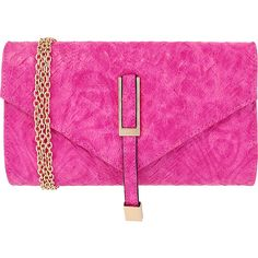 JNB Weaving Pattern Faux Leather Clutch - Fuchsia - Clutches (€29) ❤ liked on Polyvore featuring bags, handbags, clutches, pink, fuschia purse, fuchsia purse, faux leather handbags, fuchsia handbags and vegan leather purses