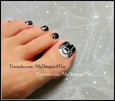 Black & White Toenail Art Design. https://www.youtube.com/watch?v=m_rmKlhed2g