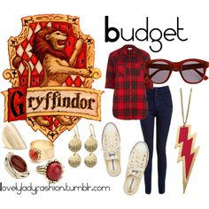 """Gryffindor on a Budget"" by nearlysamantha on Polyvore"