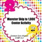 This Monster Skip to 1,000 is Common Core aligned for 2.NBT.2 and features 200 adorable monster number cards for practicing skip counting by 5s, 10...