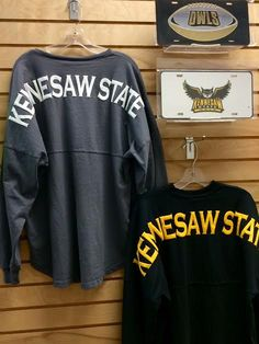 Kennesaw State University Spirit Jerseys in grey or black. V-neck or crew neck. KSU - Owls - The General Bookstore
