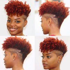 Natural Hair Short Cuts, Short Natural Haircuts, Edgy Haircuts, Tapered Natural Hair, Hairstyles Haircuts, Short Hair Cuts, Natural Hair Styles, Undercut Natural Hair, Dreads Undercut