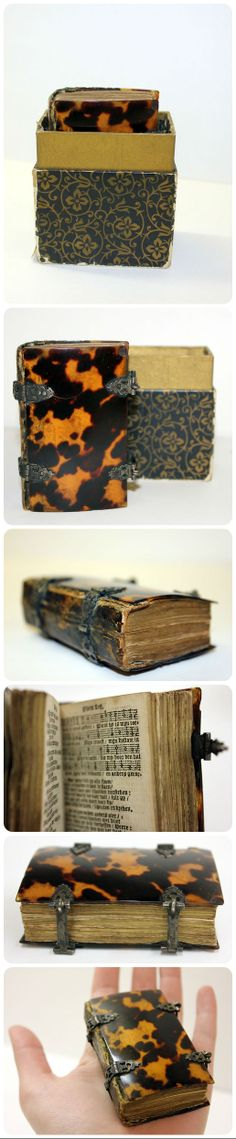 TORTOISESHELL book from Amsterdam:  copy of Psalmen Davids (The Psalms of David)  published in 1688 by Johannes Schot, Abraham Vander Putte and Jacob Looman. From the Charlotte Smith Miniature Collection, uncatalogued. (Special Collections and Archives, University of Iowa)