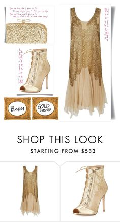 """""""Gold memo"""" by bianca1408 ❤ liked on Polyvore featuring Gianvito Rossi and INC International Concepts"""