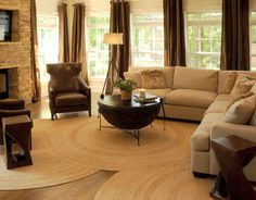 Click Pic for 24 Living Room Decorating Ideas  | Geometric Shaped Rugs and Tables | Living Room Ideas