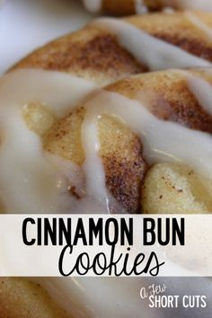 The perfect Christmas cookie! Try this easy Cinnamon Bun Cookies Recipe