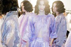 Backstage at Armani Privé Haute Couture Spring 2016 Show, Paris Fashion Week Photograph by Kevin Tachman for Vogue Magazine