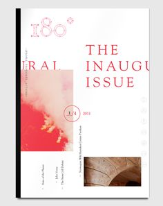 """Valentina Sanders. 180° is a quarterly journal with an online presence, focusing on people, thoughts and actions.Its name comes from """"I did a 180"""", for people that did a turnaround. Its content is versatile and targets a wide audience. The design is experimental and playful."""