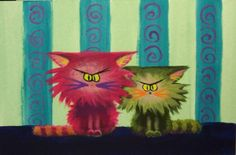 Two Cranky Cats - Cynthia Schmidt