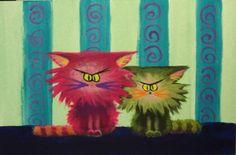 Two Cranky Cats - Cynthia Schmidt