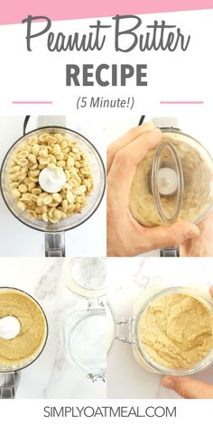 Make homemade peanut butter in 5 minutes. Try all the different peanut butter flavors! This recipe is easy to make and includes tips to make peanut butter at home. Making Peanut Butter, Homemade Peanut Butter, Peanut Butter Recipes, Creamy Peanut Butter, Oatmeal Toppings, Crunchy Granola, Roasted Peanuts, Yummy Treats, A Food