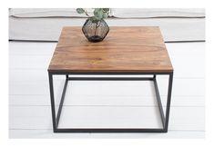 Dizajnový štvorcový konferenčný stolík s masívnou vrchnou doskou Table, Furniture, Home Decor, Decoration Home, Room Decor, Tables, Home Furnishings, Home Interior Design, Desk