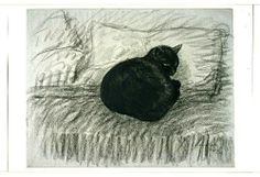Cozyhuarique - Cozyhuarique The Silence and the Cat – Theophile Steinlen Swiss I Love Cats, Crazy Cats, Cool Cats, Black Cat Art, Black Cats, You Draw, Here Kitty Kitty, Cat Drawing, Cats And Kittens