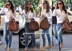 Ufff! Love is happening again. Givenchy Bag On Kareena Kapoor At The Mumbai Airport