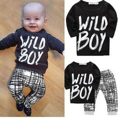 ( Wild Boy ) Boys Shirt and Pants Set.