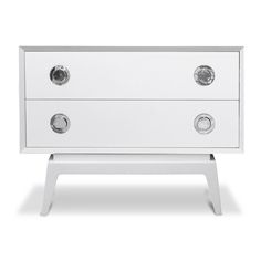 Dressers, Cabinets & Consoles - Claude Single Two-Drawer Set 24.5″ H 32.5″ W 17″ D  $995