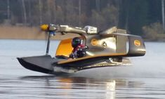 This incredible new aircraft is the FlyNano miniature electric flying boat, which has just made its first test flight over Finland's chilly lakes.