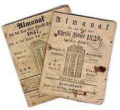 Historisk kalender og almanak fra Dansk Historisk Fællesråd