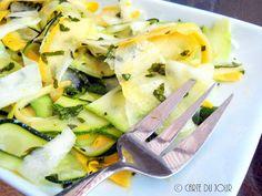 ... du jour: Zucchini & Yellow Squash Ribbons with Daikon, Oregano & ...