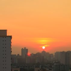 A beautiful sunset in Singapore;  red light actually reflected in the walls of my home.    Is this simply a beautiful scenery?