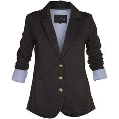 I have this blazer! I like how the sleeves are a different material/pattern inside. Fun casual/professional look.