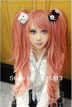 $26.98 (Buy here: https://alitems.com/g/1e8d114494ebda23ff8b16525dc3e8/?i=5&ulp=https%3A%2F%2Fwww.aliexpress.com%2Fitem%2Fdd00226-Hot-Sell-Danganronpa-Junko-Enoshima-cosplay-wig-Long-Ponytails-Pink%2F32599686825.html ) dd00226 Hot Sell! ! Danganronpa Junko Enoshima cosplay wig Long Ponytails Pink for just $26.98