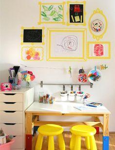 9 Kids Art Space and Storage Ideas   Childhood101