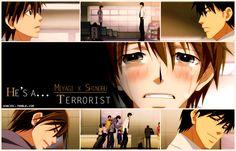 junjou terrorist (gif) - Terrorist is my faveorite next to Romantica but it's so so sad :'(