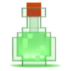 Replicating the Potion Bottle from Minecraft, the Minecraft Color Changing Potion Bottle is an officially-licensed Minecraft product.  Find your inner brewmaster and start crafting your favorite potions from the game. You'll get a different color potion each time you touch it. When inactive, the bottle will go dark. A great collectible for any Minecraft fan.