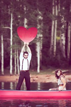 Too cute. #engagement photos #photoideas #photoprops