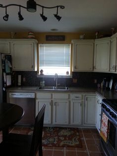 Customize boring oak cabinets to brighten your kitchen.