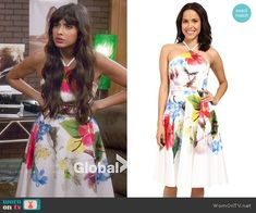 25fdbfec6 Ted Baker Corpina Forget Me Not Floral Halter-Neck Dress worn by Jameela  Jamil on