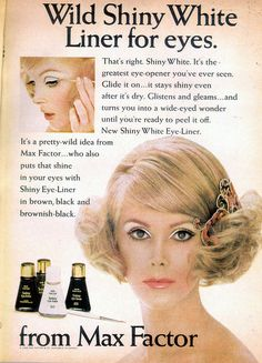 Max Factor Cosmo Apr 68. Sure makes your lids look puffy!