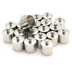 20 Pcs Decorative DIY Crafts Cylindrical Silver Plolished Metal Bells ** Visit the image link more details.