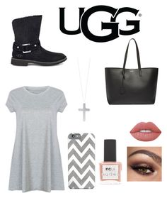 """The New Classics With UGG: Contest Entry"" by gracief-9 on Polyvore featuring UGG, Yves Saint Laurent, Eddie Borgo, Lime Crime, ncLA and ugg"