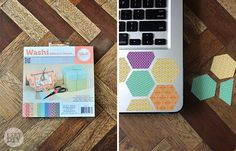 Here's a different way to decorate your laptop with washi tape!