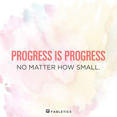 Progress is what's important! @fabletics #PositivityPinSweep