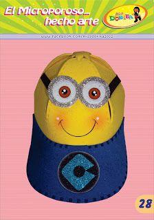 Miss Dorita: Gorro Minions II                              … Foam Party, Minion Party, Ideas Para Fiestas, Felt Patterns, Buzz Lightyear, Crafts For Kids, Family Guy, Diy And Crafts, Sun Visor Hat