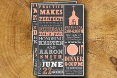 REHEARSAL DINNER Invitation typography Printable by TheLudwigShop, $9.99