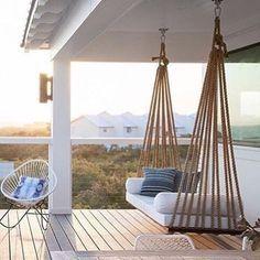 Let' s swing... @scoutandnimble #interior_delux #swing #deck #terrace #porch #terrasse #uterom