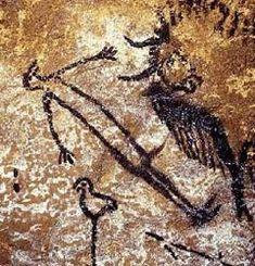 Bison und Liegender - Altamira-Höhle, ca. 15.000 v. Chr. | Informationsseite zu Höhlenmalereien in der Dordogne