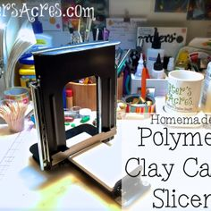 PDF Instructions to make your own Polymer Clay Cane Slicer from KatersAcres | Handmade professional millefiori  canes
