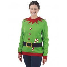 Womens Elf Christmas Jumper   The Christmas Jumper Store