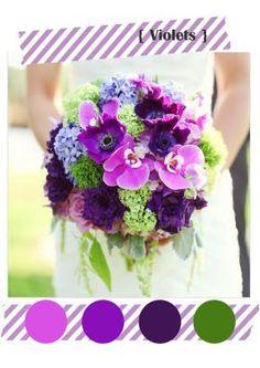 bouquet violet et vert